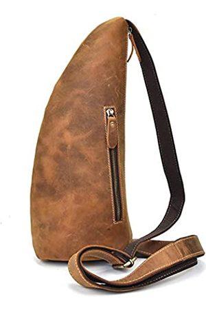 A-Lan Herren-Schultertasche aus echtem Leder für Reisen, Schule, Sport