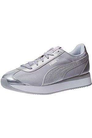 PUMA Damen Turino Stacked Glitter Sneaker, Silver Silver