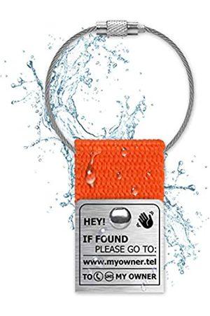 NaviTagi Wasserdichte Gepäckanhänger für Laptop und Reise, personalisierbar, mit ID-Nummer für Koffer, Handtaschen, Rucksäcke, Name