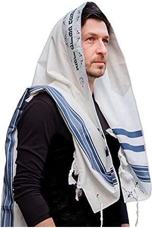 KeNesher Tallit Prayer Shawl Cotton Kosher Tallit Gadol Tzitzit for Prayer Wash & Iron Gift Bar Mitzvah