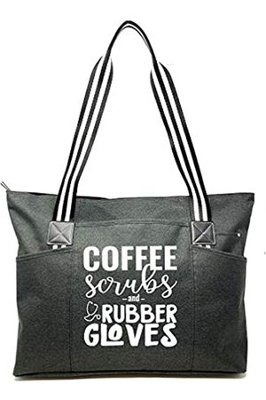 Brooke & Jess Designs Damen Handtaschen - Large Nursing Zippered Tote Bags with Pockets for Nurses - Perfect for Work, Gifts for CNA, RN