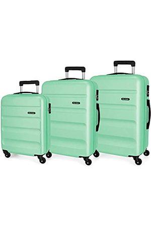 Roll Road Taschen - Flex Kofferset 55/65/75 cms Hartschalen ABS Kombinationsschloss 182L 4 Räder Handgepäck