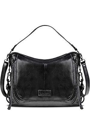 Nico Louise Damen-Handtasche, Boston-Design, weiches Leder, Schultertasche, Reisetasche