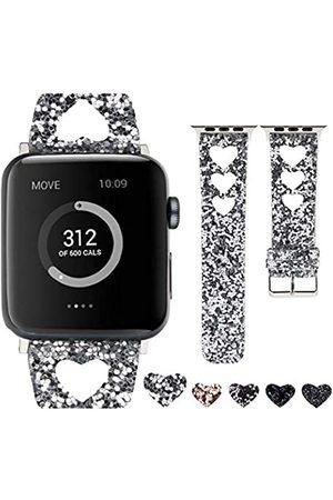 Moonooda Glitzer-Uhrenarmband kompatibel mit Apple Watch Bands 38 mm 40 mm 42 mm 44 mm