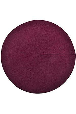 ZLYC Damen Wolle Baskenmütze Klassische Französischen Barett Warm Beret Mütze (Barett Burgunderrot)