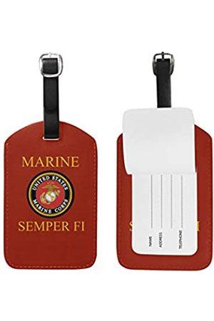 poeticcity USMC US Marines Corps Gepäckanhänger, Kunstleder