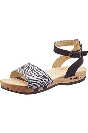 Woody Damen Clogs & Pantoletten - Damen Jana Pantoletten, Mehrfarbig (Zebra 095)