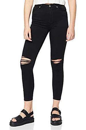 NA-KD Damen High Waist Jeans - Damen Skinny High Waist Destroyed Jeans