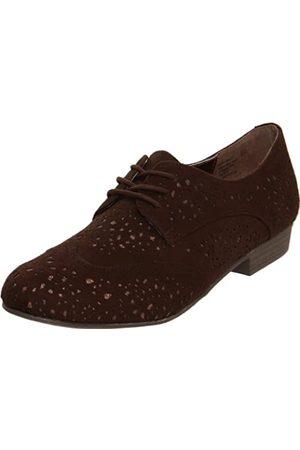 Not Rated Damen Halbschuhe - Fascination Damen Oxford Kleid Schuhe, Braun (Schokoladenbraun)