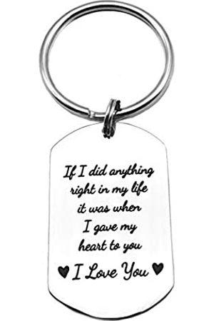 MGHONHDR Herren Schlüsselanhänger - Paar-Schlüsselanhänger If I did Anything Right in My Life, It Was When I Gave My Heart to You