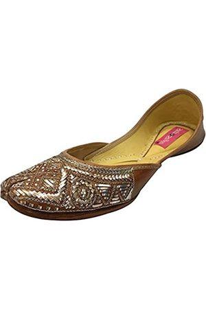Step N Style Traditional Handmade Women Shoes Leather Flip-Flops Mojari Juti Khussa