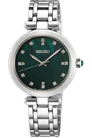 Seiko Damen Analog Quarz Uhr mit Metall Armband SRZ535P1