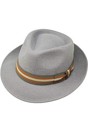 Borges & Scott B&S Premium Doyle - Teardrop Fedora Hut - 100% Wollfilz - perfekt zum Reisen - was-serabweisend - Unisex - 60cm