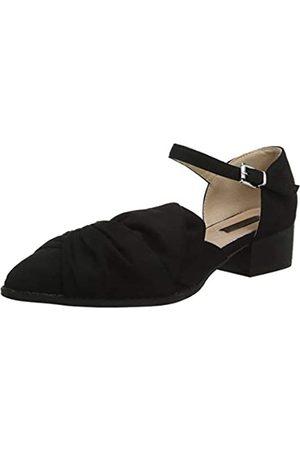 Lost Ink Damen Halbschuhe - Damen Imogen Half Bow Flat Shoe Slipper, (Black 0001)
