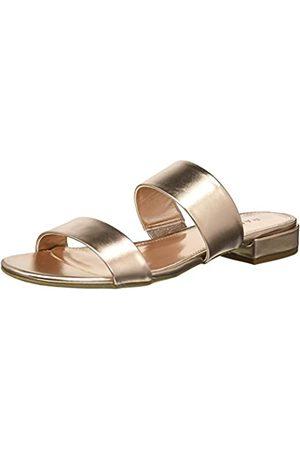 Rampage Damen Sandalen - Ramapage Isla Damen Sandale mit offenem Zehenbereich, Doppelriemen, Pink (Rose /Metallic)