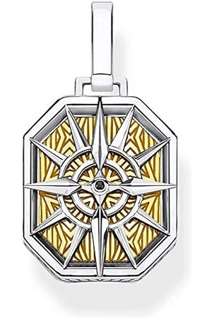 Thomas Sabo Unisex-Anhänger Kompass 925 Sterlingsilber gelbgold vergoldet PE867-849-7