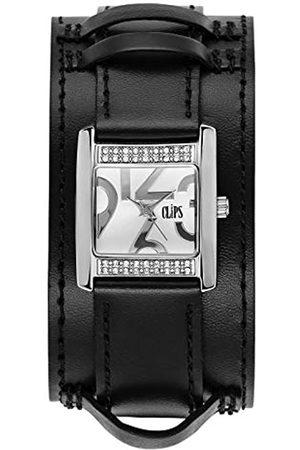 CLIPS Damen Analog Uhr mit Leder Armband