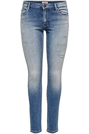 ONLY Female Skinny Fit Jeans ONLCarmen Reg Ankle Jogg M32Light Blue Denim