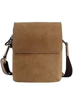 SUO SOUHU Herren Leder Schultertasche Messenger Bag Business Retro Messenger Bag Flap Travel Umhängetasche