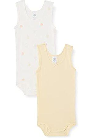 Sanetta Mädchen Bodys - Baby-Mädchen Body beige 323145 Kleinkind Unterwäsche-Satz