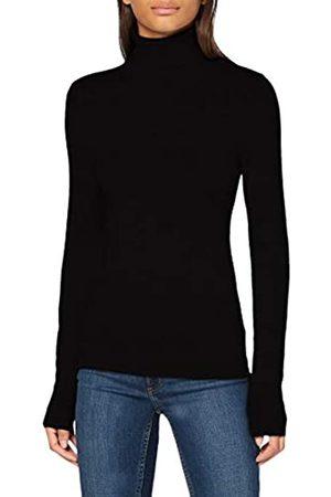 VERO MODA Damen T-Shirts, Polos & Longsleeves - Damen VMGLORY LS Rollneck Blouse NOOS Bluse, Black