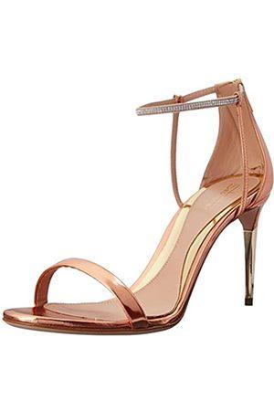 Sebastian Damen-Sandalen mit Keilabsatz von Swarovski, (Rose Metallic)