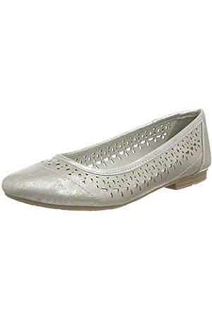 Soft Line Damen 22161 Geschlossene Ballerinas, (silver)