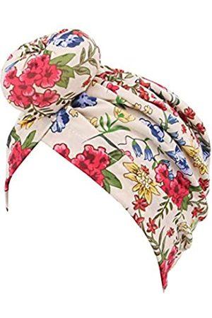 Radish Stars Damen Turbanhut mit Kreuzschlag, plissiert, indischer Hut, muslimischer Hut