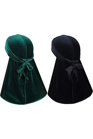 Heywhose Herren Caps - Velvet Men Durag - Premium Durag Cap Headwraps (2PCS) mit extra langem Schwanz und breiten Riemen für 360 Wellen - - Einheitsgröße