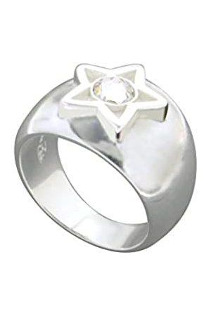 Louise Zoé Damen Ringe - Damen Ring, Messing, Swarovski-Kristall, 58 (18.5)