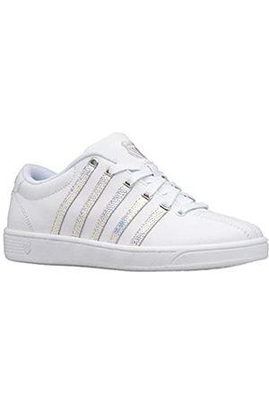 K-Swiss Womens Court Pro Ii Sneaker, White/Disco