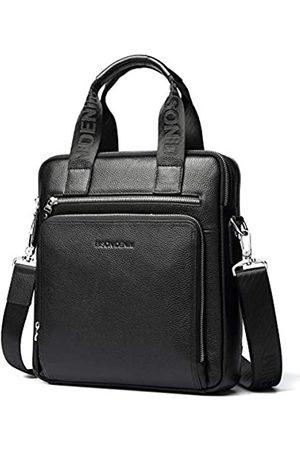 BISON DENIM Herren Aktentasche Leder Business Arbeitstasche 14 Zoll Laptop Messenger Bag iPad Aktentasche Handtasche für Herren
