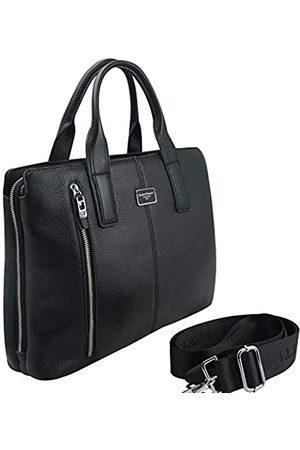 Unbekannt Herren Laptop- & Aktentaschen - Herren-Aktentasche aus echtem Leder für Reisen, Büro, Business, Laptop