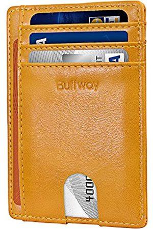 Buffway Herren Taschen - Herren schlanke minimalist vordertasche rfid blocking leder-mappen einheitsgröße alaska