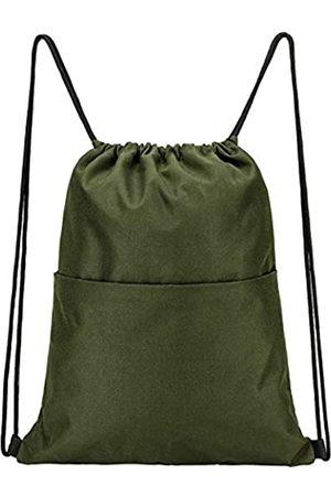 Vorspack Rucksack mit Kordelzug, wasserabweisend, Kordelzug, Sportsack, Turnbeutel mit Seitentasche für Damen und Herren, Unisex-Erwachsene, Gepäck - Handgepäck
