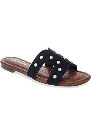 Rampage Ophelia H-Band-Sandalen mit Fußbett und Nieten aus Krokodil-Imitat, (Marineblau mit Nieten)