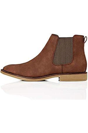 FIND Marsh Herren Chelsea Boots Stiefel, (Rich Brown Nubuck Look)