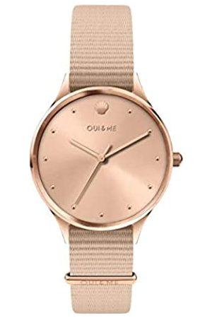 Oui&Me Damen Analog Quarz Uhr mit Nylon Armband ME010199