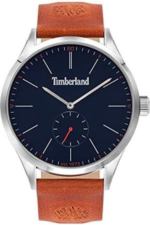 Timberland Herren Uhren - Herren Analog Quarz Uhr mit Leder-Kalbsleder Armband TBL16012JYS.03