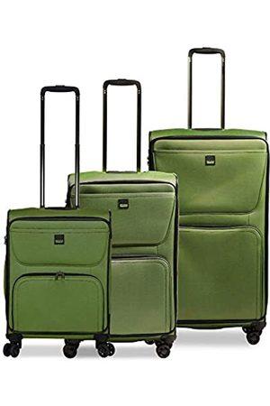Stratic Bendigo Light Kofferset 3-teilig weichschale Trolley Rollkoffer Reisekoffer 4 Rollen TSA-Zahlenschloss, erweiterbar (S,M