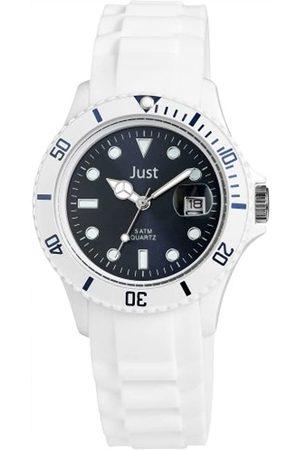 Just Watches Damen-Armbanduhr Rubber Strap Collection Analog Quarz Silikon 48-S5456WH-DBL