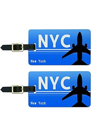 Graphics and More Koffer - Graphics & More New York Ny (NYC) Airport Code Luggage Suitcase Id Tags
