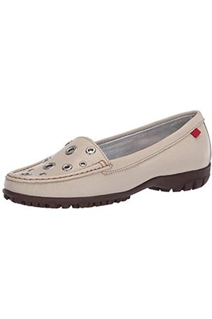Marc Joseph New York Damen Schuhe - Damen Leder Made in Brazil Mott Street Golfschuh, Elfenbein (Cremefarbenes Trommelleder/Kontrastnähte)