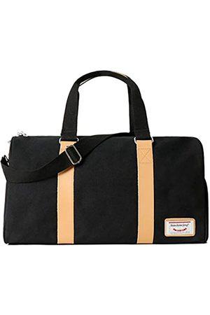 Sunshinejing Unisex Canvas Weekender Übernachtung Duffel Bag Travel Gym Tote Carry on Bag mit Schuhfach
