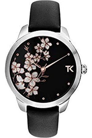 Trendy Kiss Damen Analog Quarz Uhr mit Leder Armband TC10140-02