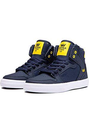 Supra Jungen Schuhe - Unisex-Kinder Kids Vaider Hohe Sneaker, (Navy/Dandelion-White-M 466)
