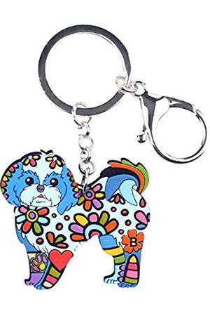 WEVENI JEWELRY WEVENI Schlüsselanhänger aus Acryl, Yorkshire-Hund, für Damen, Mädchen