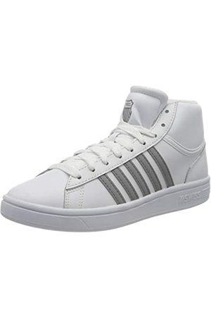 K-Swiss Damen Court Winston MID Sneaker, White/NEUTRAL Gray