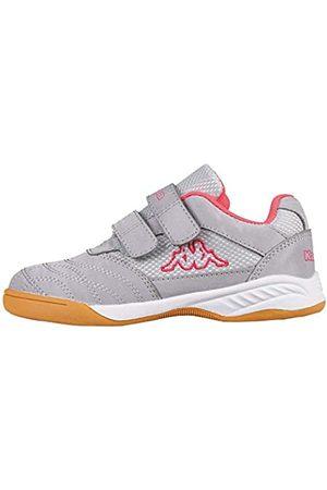 Kappa Jungen Schuhe - Jungen Mädchen Kickoff Sneaker, 1522 Silver/pink