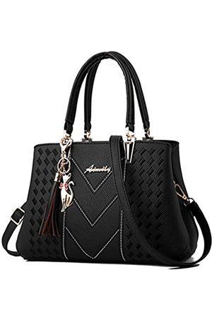 ALARION Damen-Portemonnaies und Handtaschen, Schultertasche für Damen, Designer-Schultasche, Messenger, Tragetasche, (1-ablack)